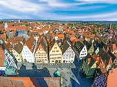 Aerial of the market place of Rothenburg ob der Tauber — Stock Photo