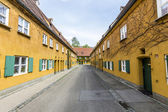 The Fuggerei is the worlds oldest social housing complex — Stock Photo
