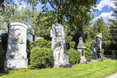 Last Resting Place of famous people at the Vienna Central Cemete — Stock Photo