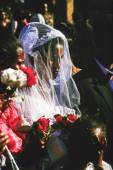 Coptic woman marries in Gondar, Ethiopia — Stock Photo