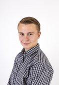 smart friendly looking teenage boy — Stock Photo