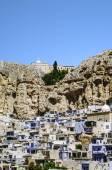 Maloula or Maalula, christian village in the Rif Dimash, Syria — Stock Photo