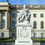 Statue of Wilhelm von Humboldt in Berlin — Stock Photo #74040259