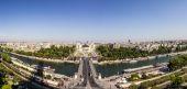 Skyline of Paris from la tour Eiffel — Stock Photo