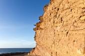 Felsen mit Gesteinsschichten — Stock Photo