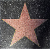 Empty star on Hollywood Walk of Fame — Stock Photo