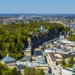 View to the old city of Salzburg from the castle Hohensalzburg — Stock Photo #76324231
