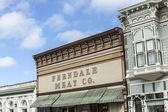 Victorian storefronts in Ferndale, USA — Stock Photo