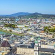 View to the old city of Salzburg from the castle Hohensalzburg — Stock Photo #77206781