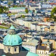 View to the old city of Salzburg from the castle Hohensalzburg — Stock Photo #77207257