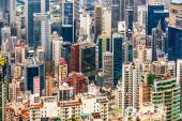 Panoramic Skyline of Hong Kong City from the Peak — Stock Photo