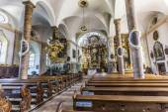 Famous Trunesco abbey in Traunkirchen — Stock Photo