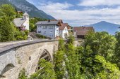 Old roman bridge in Grins,, Tyrol, Austria — Stock Photo
