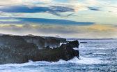 Scenic coast landscape at Timanfaya National Park — Stock Photo