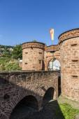 Old city wall in Buedingen — Stock Photo