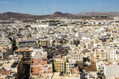 View to Arrecife and the volcanos of Lanzarote — Stock Photo