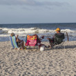 Постер, плакат: People enjoy the beautiful beach in St Augustine