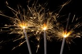 Firework sparklers — Stock Photo