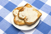 Buttered toast — Stock Photo