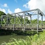 Bridge over river in Kauai — Stock Photo #79758546