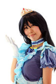 KAGAWA, JAPAN - September 28: Japanese anime character cosplay pose in Anime Event in Kagawa 2014 on Sept 28, 2014 at Reoma World Park, Marugame, Kagawa, Japan. — Stock Photo