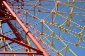 Ferris wheel spokes — Stock Photo