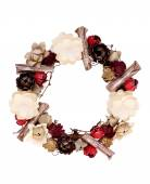 Wreath decorated with paper flower — Foto de Stock