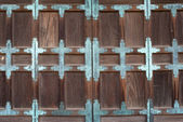 Japanese old temple door — Stock Photo