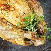 Roast Chicken with Herbs — Stock Photo