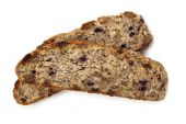 Fruit and Nut Bread Isolated — Stock Photo