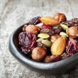 Trail Mix in Black Bowl — Foto de Stock
