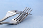Two Forks Entwined — Stock Photo