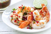 Shrimp with Chili and Lime — Stock Photo
