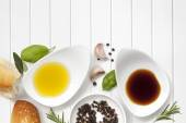 Oil and Vinegar Food Background — Stock Photo
