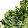Green Vegetables over White Background — Stock Photo #70162975