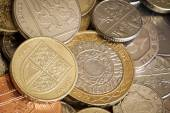 British Coins Full Frame Background — Stock Photo