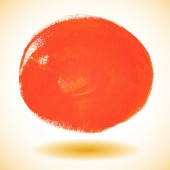 Orange watercolor paint vector circle — Stockvector