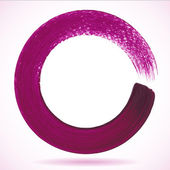 Violet paintbrush circle vector frame — Stock Vector