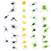 Mardi Gras design elements. Watercolor blots. — Vector de stock