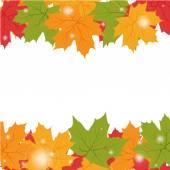 Fondo de otoño con hojas de arce — Vector de stock