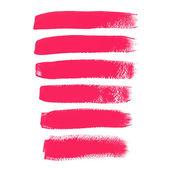 Pink ink vector brush strokes — Stock Vector
