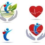 Cardiovascular disease treatment icons — Stock Vector #59808811