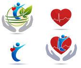 Cardiovascular disease treatment icons — Stock Vector