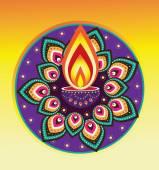 Diwali candle light — Stock Vector