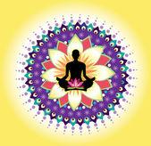 Ikona joga — Wektor stockowy