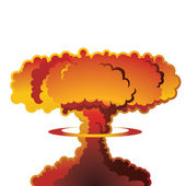 Nuclear explosion mushroom cloud — Stock Vector