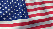 3D rendered waving American flag — Stock Photo