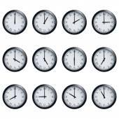 Uhr mit römischen Ziffern, zu jeder Stunde zeitlich festlegen — Stockvektor