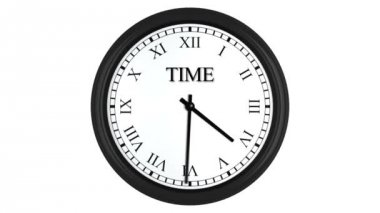 Time is money displayed on spinning clock with Roman numerals — Stock Video
