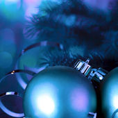 Christmas ball and fir — Stock Photo